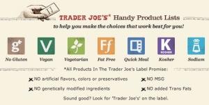 GMOs Traders Joes